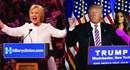 Trump và Clinton trực tiếp đi bầu cử và động viên các cử tri