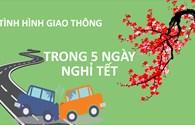 Infographic: Tình hình giao thông trong 5 ngày nghỉ Tết Đinh Dậu