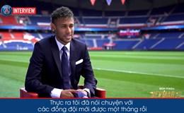 Bài phỏng vấn đầu tiên của Neymar ở Parc des Princes: Tôi muốn làm nên lịch sử với PSG
