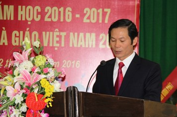 Trường Trung cấp nghề KT-KT công đoàn Ninh Bình: Khai giảng năm học mới và Kỷ niệm 34 năm Ngày Nhà giáo VN
