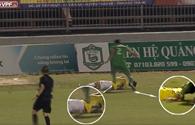 Pha bóng đáng xấu hổ của Chí Công với cầu thủ trẻ Hà Nội
