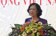 Đồng chí Trương Thị Mai dự Hội nghị Ban Chấp hành Tổng Liên đoàn Lao động Việt  Nam lần thứ 10