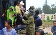 Bão số 14: Quảng Nam bắt đầu có mưa to và rất to