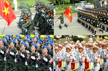 Triệu ánh mắt dõi về quảng trường Ba Đình theo bước chân các đoàn diễu binh
