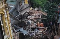 Sập nhà ở Trần Hưng Đạo: Cận cảnh hiện trường tan hoang, đổ nát