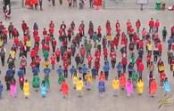 400 bạn trẻ thủ đô nhảy flashmob chào xuân Giáp Ngọ