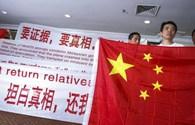Vụ máy bay Malaysia mất tích: Thân nhân hành khách Trung Quốc yêu cầu Malaysia xin lỗi vì chậm trễ thông tin