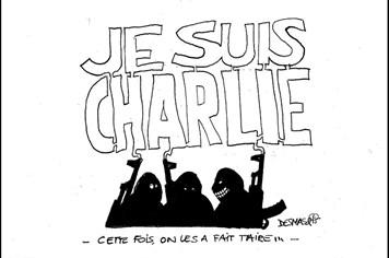 """""""Bão"""" biếm họa sau vụ tấn công tòa soạn Charlie Hebdo"""
