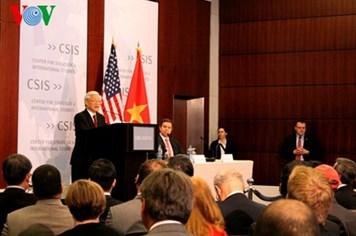 Bài nói chuyện phản ánh tầm nhìn toàn diện về quan hệ Việt Nam-Hoa Kỳ