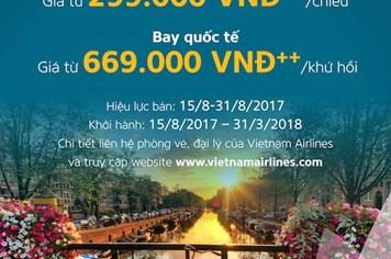 """Cơ hội """"săn vé"""" ưu đãi lớn nhất năm của Vietnam Airlines với chương trình """"Mùa thu vàng"""""""