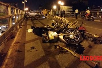 Lái xe taxi gây tai nạn liên hoàn có uống rượu và va chạm giao thông trước đó