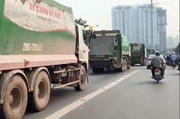 Hà Nội: Phạt 1,7 triệu, tước GPLX 2 tháng tài xế xe rác đi vào đường buýt nhanh BRT
