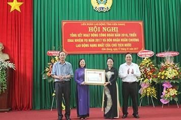 LĐLĐ tỉnh Kiên Giang: Đón nhận Huân chương Lao động hạng Nhất