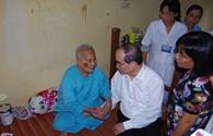 Chủ tịch Ủy ban Trung ương MTTQ Việt Nam Nguyễn Thiện Nhân thăm, chúc tết tại Trà Vinh
