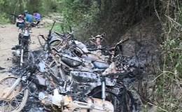 Làm việc với các đối tượng tình nghi đốt 9 xe máy của đoàn kiểm tra bảo vệ rừng