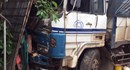 Xe tải mất lái, tông sập nhà dân lúc rạng sáng