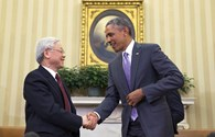 Những hình ảnh đầu tiên Tổng thống Obama hội đàm với Tổng Bí thư Nguyễn Phú Trọng tại Nhà Trắng