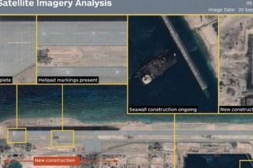 Trung Quốc sẽ cho máy bay quân sự hạ cánh và xây hàng loạt công trình trên Đá Chữ Thập