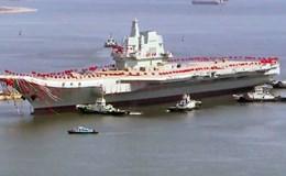 """Trung Quốc tưng bừng hạ thủy tàu sân bay đầu tiên hoàn toàn """"made in China"""""""