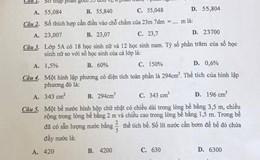 """Nghệ An: Phòng Giáo dục ra đề thi học kỳ quá sức, """"vắng bóng"""" điểm 10"""