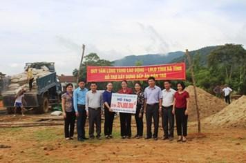 Quỹ Tấm lòng vàng Lao Động hỗ trợ 324 triệu đồng xây bếp ăn Trường Mầm non Kỳ Thượng