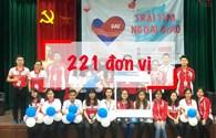 """Tiếp nhận 221 đơn vị máu tại ngày hội """"Trái tim ngoại giao"""""""