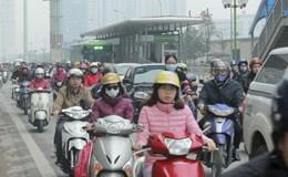 Hà Nội: Chưa phạt ôtô, xe máy lấn làn xe buýt nhanh