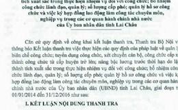 Lai Châu: Nhiều trường hợp bổ nhiệm lãnh đạo không đáp ứng tiêu chuẩn