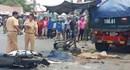 Đổ dốc cầu, xe ben tông hàng loạt xe máy khiến 2 người chết tại chỗ