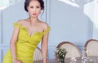 Hoa hậu Quý bà Sương Đặng mảnh mai trong bộ đầm rực rỡ sắc màu