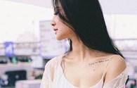 Hoa hậu Trần Thị Quỳnh để lộ hình xăm bí ẩn