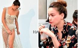 Lộ mặt thật không qua photoshop Hồ Ngọc Hà; Siêu mẫu mất tự tin vì bộ váy không thể bạo hơn