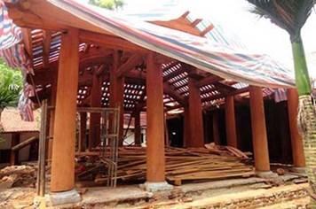 30% cấu kiện kiến trúc bị hạ giải của chùa Trăm Gian có thể tái sử dụng