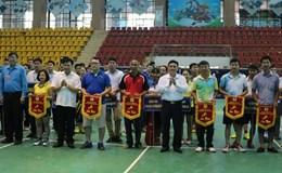 Khai mạc Giải cầu lông công nhân viên chức lao động tỉnh Điện Biên năm 2017