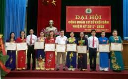 LĐLĐ huyện Phú Bình (Thái Nguyên): CĐCS khối Dân huyện Phú Bình đại hội điểm