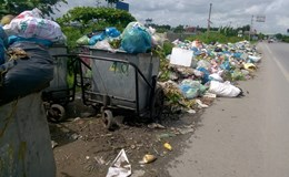 Tiếp vụ dân chặn bãi rác ở Hải Phòng: Cả huyện ngập trong rác thải