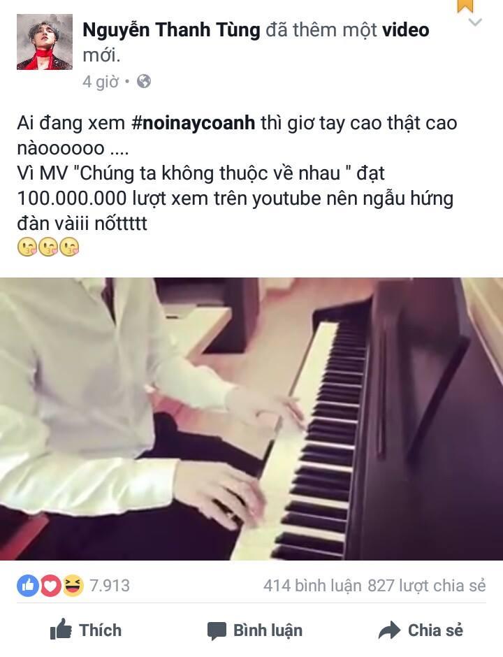 Hình ảnh Sơn Tùng Mặc sơ mi trắng chơi Piano được ví như soái ca