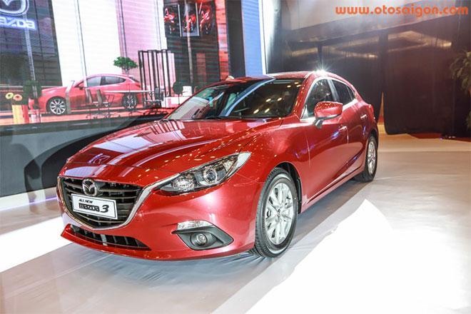 Mazda3 có lợi thế hơn Altis khi có cả phiên bản hatchback nhưng hai bản giá mềm chỉ sử dụng động cơ dung tích 1.5 lít.Ảnh Otosaigon