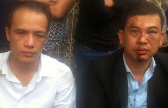 Luật sư Lê Văn Luân và luật sư Trần Thu Nam.