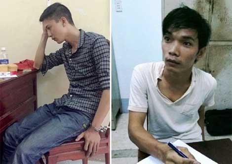 Hung thủ Nguyễn Hải Dương vàđồng phạm Vũ Văn Tiến.